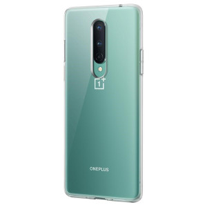 Husa Cover Silicon Bumper pentru OnePlus 8 Transparent
