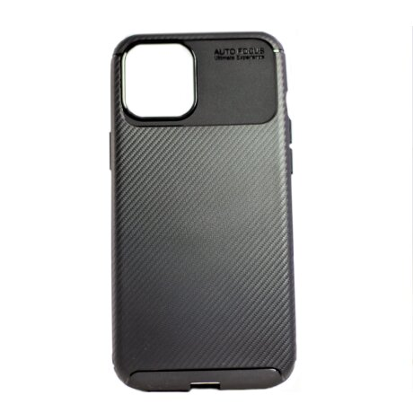 Husa Cover Silicon Carbon Alot pentru iPhone 12 Pro Max Negru