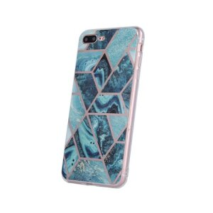 Husa Cover Silicon Geometric pentru Samsung Galaxy A21s Albastru