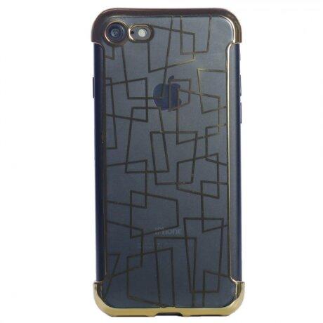 Husa Cover Silicon N Pentru Iphone 7/8/Se 2 Rama Auriu
