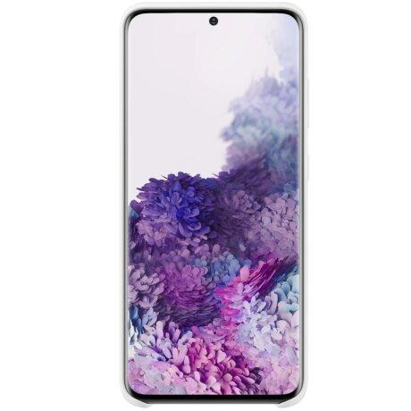 Husa Cover Silicon Samsung pentru Samsung Galaxy S20 Alb