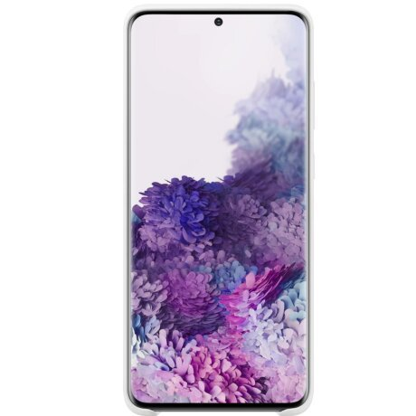 Husa Cover Silicon Samsung pentru Samsung Galaxy S20 Plus Alb