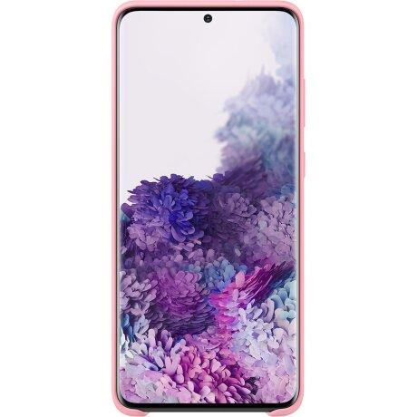 Husa Cover Silicon Samsung pentru Samsung Galaxy S20 Plus Roz