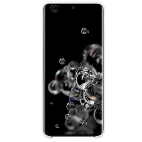 Husa Cover Silicon Samsung pentru Samsung Galaxy S20 Ultra Alb