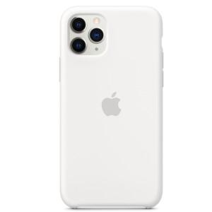 Husa Cover Silicone Apple pentru iPhone 11 Pro Alb