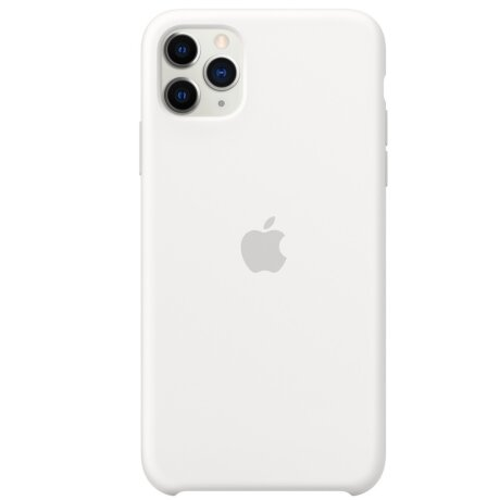 Husa Cover Silicone Apple pentru iPhone 11 Pro Max  Alb