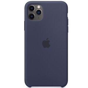 Husa Cover Silicone Apple pentru iPhone 11 Pro Midnight Blue