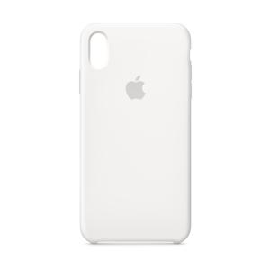 Husa Cover Silicone Apple pentru iPhone Xs Max  Alb