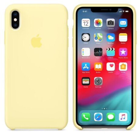 Husa Cover Silicone Apple pentru iPhone XS Max MUJR2ZM/A Yellow