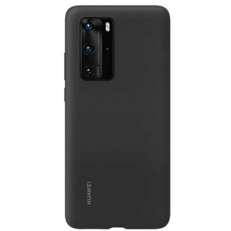 Husa Cover Silicone Huawei pentru Huawei P40 Pro Black
