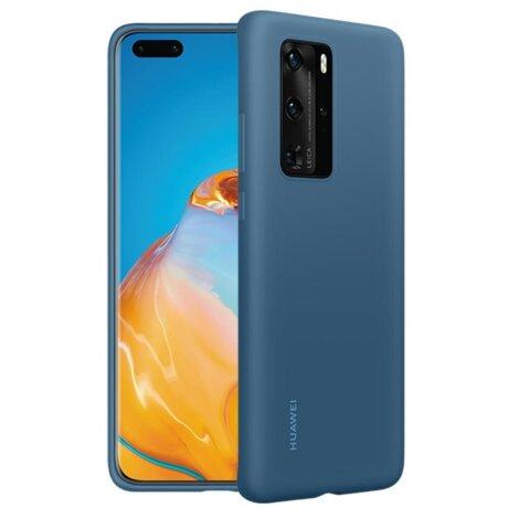 Husa Cover Silicone Huawei pentru Huawei P40 Pro Blue