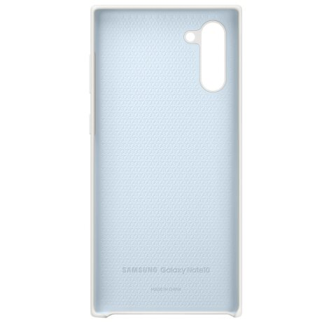 Husa Cover Silicone Samsung pentru Samsung Galaxy Note 10 Alb