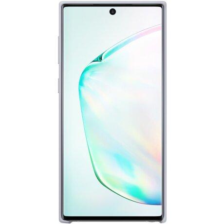 Husa Cover Silicone Samsung pentru Samsung Galaxy Note 10 Argintiu