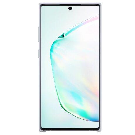 Husa Cover Silicone Samsung pentru Samsung Galaxy Note 10 Plus Argintiu