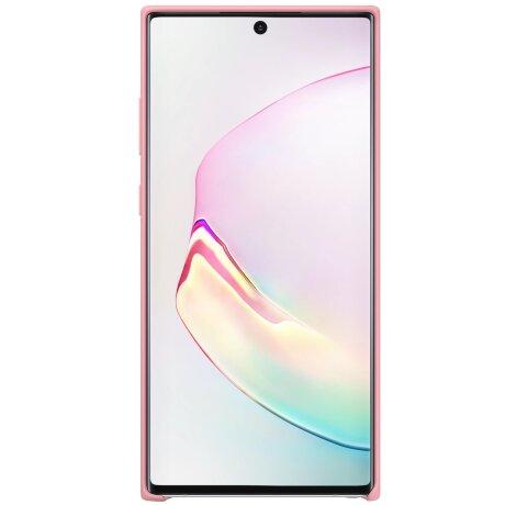 Husa Cover Silicone Samsung pentru Samsung Galaxy Note 10 Plus Roz