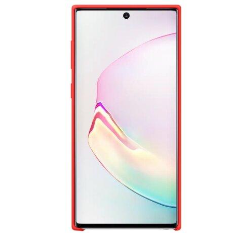Husa Cover Silicone Samsung pentru Samsung Galaxy Note 10 Rosu