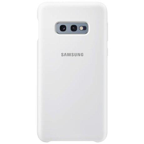 Husa Cover Silicone Samsung pentru Samsung Galaxy S10e Alb