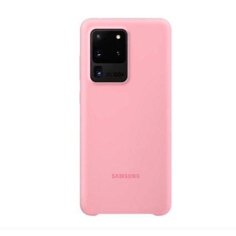 Husa Cover Silicone Samsung pentru Samsung Galaxy S20 Ultra PG988TPEGEU Pink