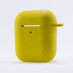 Husa Cover Soft Ksix Eco-Friendly pentru Airpods Galben