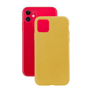Husa Cover Soft Ksix Eco-Friendly pentru iPhone 11 Galben