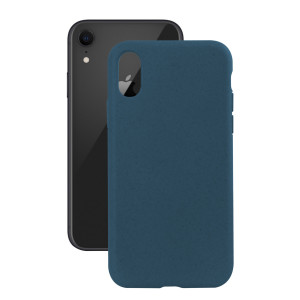 Husa Cover Soft Ksix Eco-Friendly pentru iPhone Xr Albastru