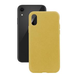 Husa Cover Soft Ksix Eco-Friendly pentru iPhone Xr Galben