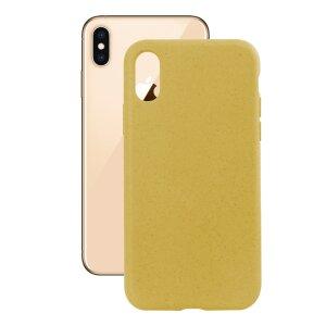 Husa Cover Soft Ksix Eco-Friendly pentru iPhone Xs Max Galben