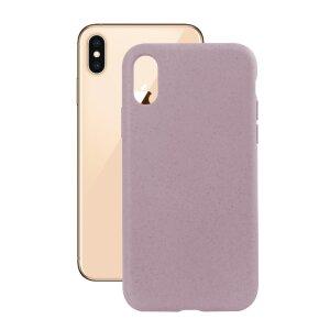 Husa Cover Soft Ksix Eco-Friendly pentru iPhone Xs Max Roz
