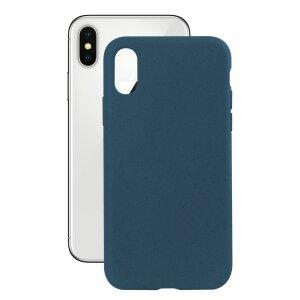 Husa Cover Soft Ksix Eco-Friendly pentru iPhone X/Xs Albastru