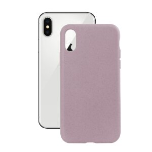 Husa Cover Soft Ksix Eco-Friendly pentru iPhone X/Xs Roz