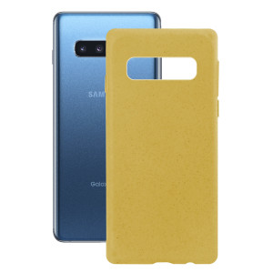 Husa Cover Soft Ksix Eco-Friendly pentru Samsung Galaxy S10 Plus Galben