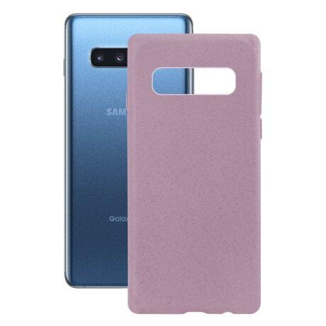 Husa Cover Soft Ksix Eco-Friendly pentru Samsung Galaxy S10 Plus Roz