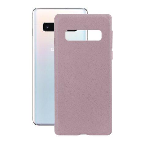 Husa Cover Soft Ksix Eco-Friendly pentru Samsung Galaxy S10 Roz