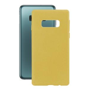 Husa Cover Soft Ksix Eco-Friendly pentru Samsung Galaxy S10e Galben