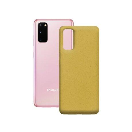 Husa Cover Soft Ksix Eco-Friendly pentru Samsung Galaxy S20 Galben