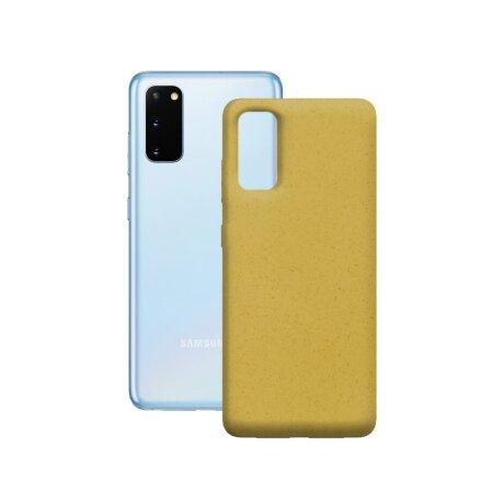 Husa Cover Soft Ksix Eco-Friendly pentru Samsung Galaxy S20 Plus Galben