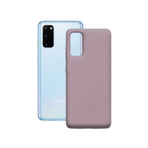 Husa Cover Soft Ksix Eco-Friendly pentru Samsung Galaxy S20 Plus Roz