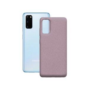 Husa Cover Soft Ksix Eco-Friendly pentru Samsung Galaxy S20 Plus Roz