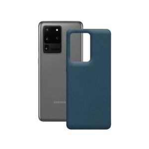 Husa Cover Soft Ksix Eco-Friendly pentru Samsung Galaxy S20 Ultra Albastru