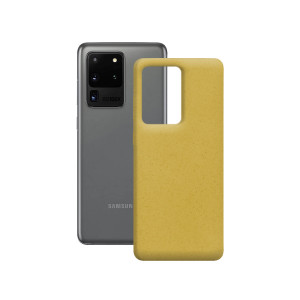 Husa Cover Soft Ksix Eco-Friendly pentru Samsung Galaxy S20 Ultra Galben
