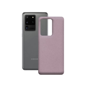 Husa Cover Soft Ksix Eco-Friendly pentru Samsung Galaxy S20 Ultra Roz