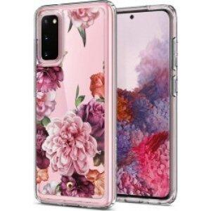 Husa Cover Spigen Ciel Floral pentru Samsung Galaxy S20 Pink