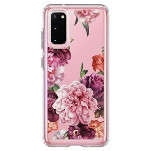 Husa Cover Spigen Ciel Floral pentru Samsung Galaxy S20 Red