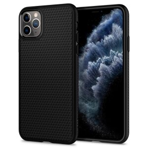 Husa Cover Spigen Liquid Air pentru iPhone 11 Pro Max Matte Black
