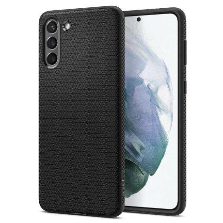 Husa Cover Spigen Liquid Air pentru Samsung Galaxy S21 Matte Black