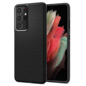 Husa Cover Spigen Liquid Air pentru Samsung Galaxy S21 Ultra Matte Black