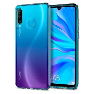 Husa Cover Spigen Liquid Crystal Glitter pentru Huawei P30 Lite Transparent