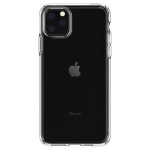 Husa Cover Spigen Liquid Crystal pentru iPhone 11 Pro Max Transparent