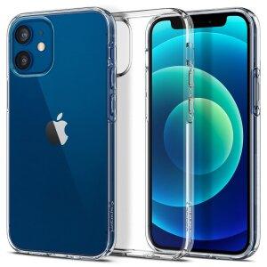 Husa Cover Spigen Liquid Crystal pentru iPhone 12 Mini Clear