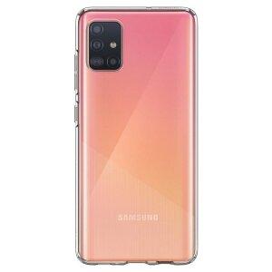 Husa Cover Spigen Liquid Crystal pentru Samsung Galaxy A51 Transparent